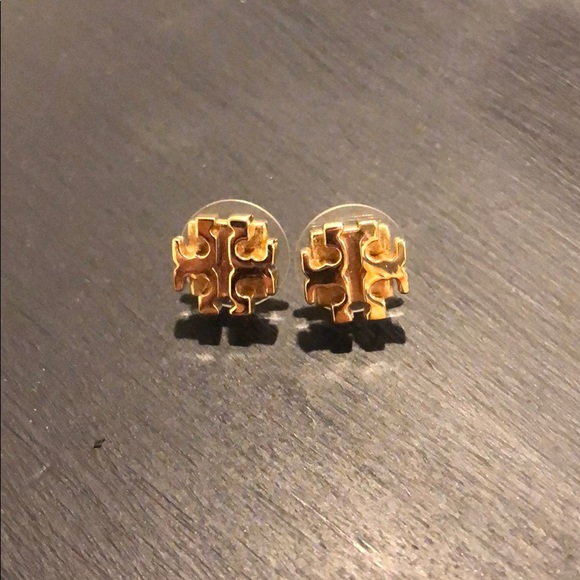 Tory Burch Jewelry - Tory Burch Logo Stud Gold Earrings